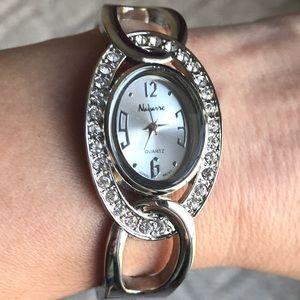 Navanne Bangel Watch w/Swarovski Crystals